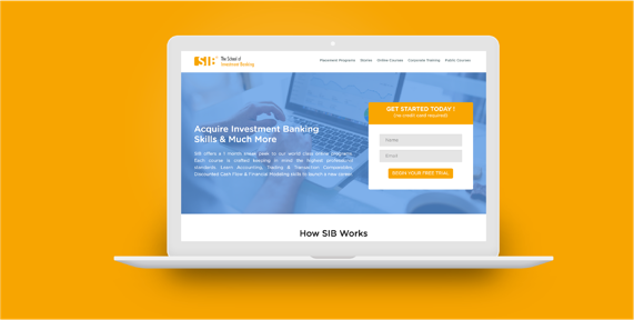 Web Design for School Of Investment Banking