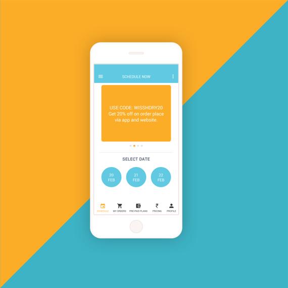Mobile App UI/UX for Wissh Wash