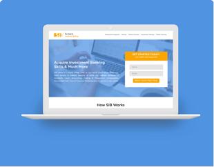 UI Design & Website Development for School Of Investment Banking
