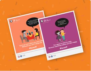 Graphic Design, Social Media Marketing for SLA Financial Solutions