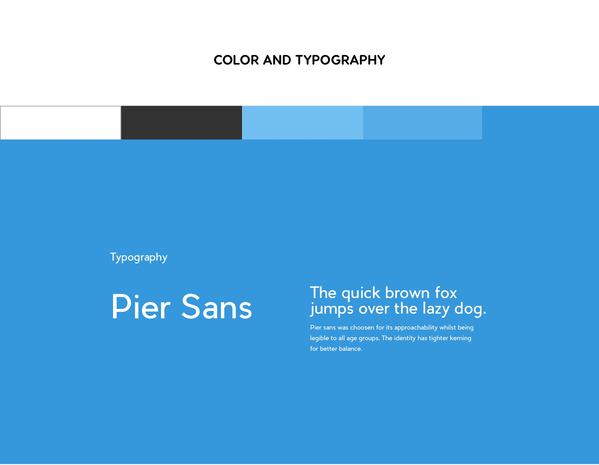 Color and typography