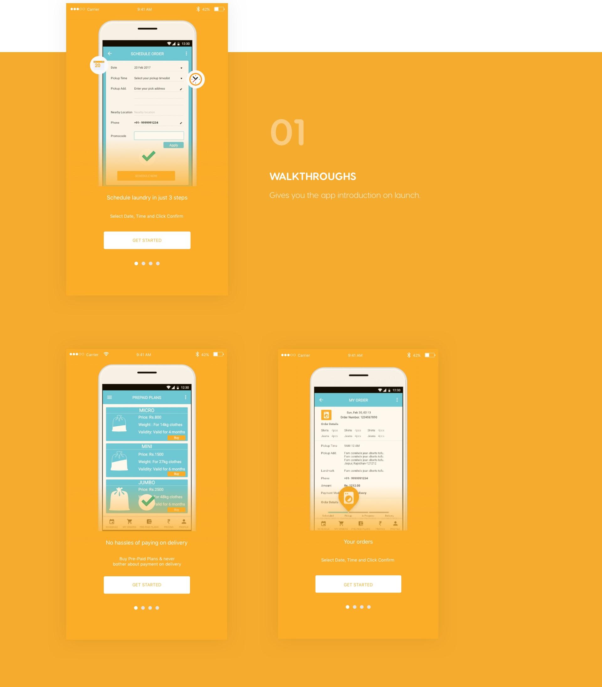 Walkthroughs -app introduction
