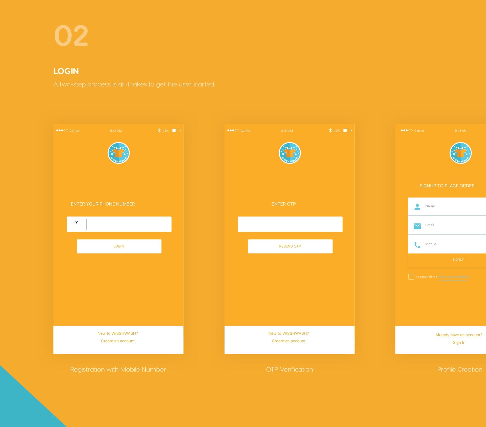 Login -a two-step process to login