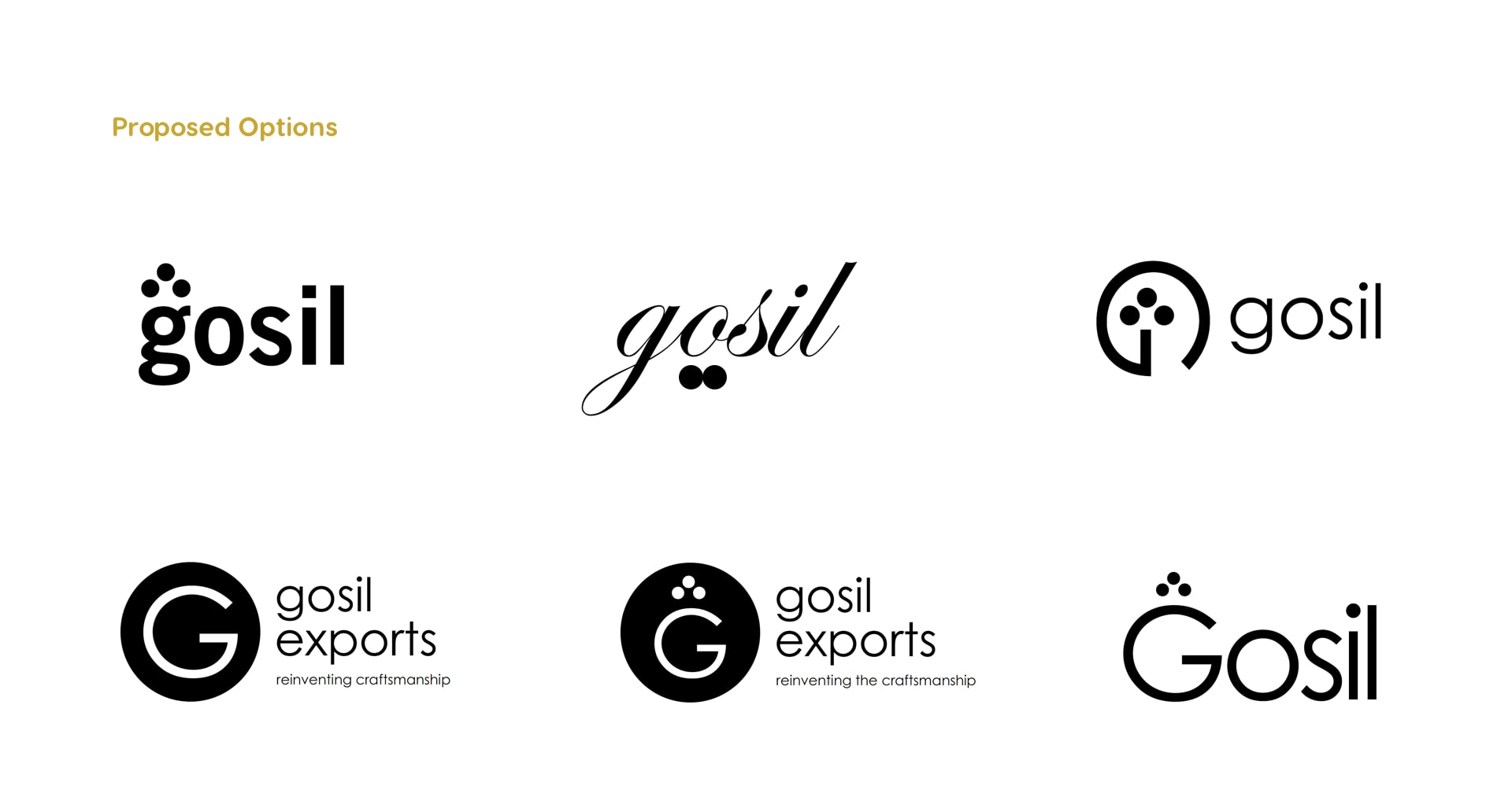 Proposed logo options
