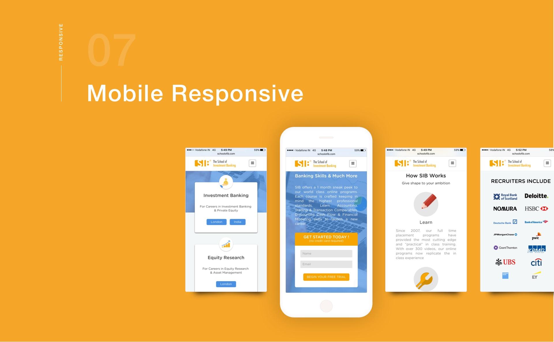 Mobile Responsive