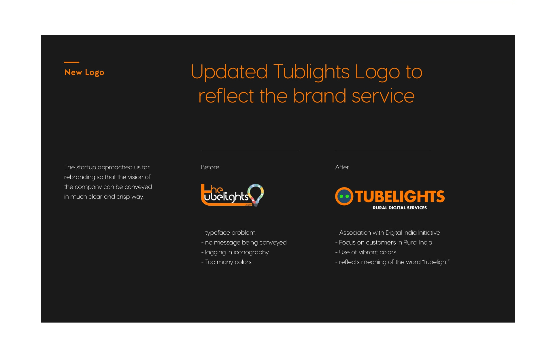 Updated tubelights logo to reflect the brand service.